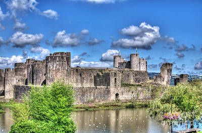 Photograph - Caerphilly Castle 4 by Steve Purnell