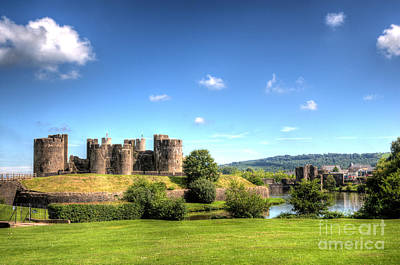 Photograph - Caerphilly Castle 5 by Steve Purnell