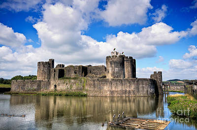 Photograph - Caerphilly Castle 6 by Steve Purnell