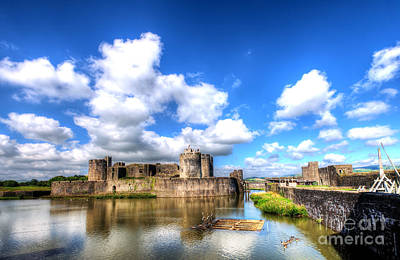 Photograph - Caerphilly Castle 7 by Steve Purnell