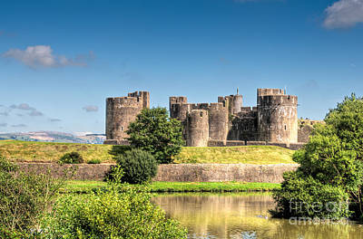 Photograph - Caerphilly Castle 9 by Steve Purnell