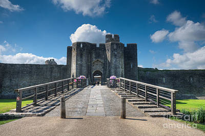 Photograph - Caerphilly Castle Main Gate by Steve Purnell
