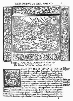 Caesar's Commentaries Art Print