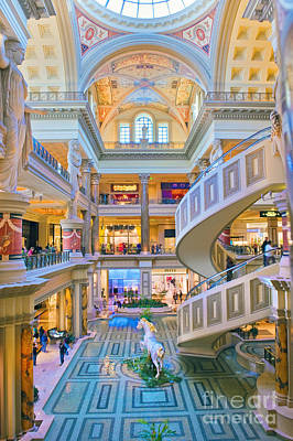 Luxury Photograph - Caesars Palace Forum Luxury Shopping 2 by David Zanzinger