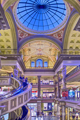 Photograph - Caesars Palace Forum Luxury Shopping by David Zanzinger