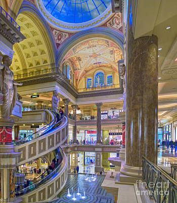 Photograph - Caesars Palace Forum Shops Grand Interior Las Vegas Nevada by David Zanzinger