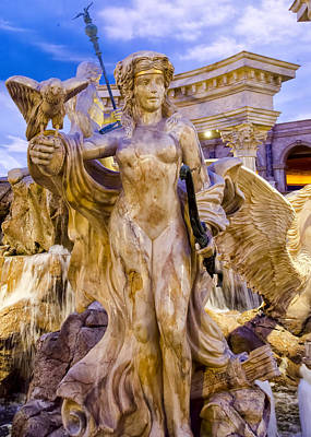 Caesars Palace Fountains - Las Vegas Nevada Art Print by Jon Berghoff