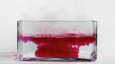 Caesium Reacting With Water (5 Of 5) Print by Science Photo Library