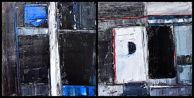 Separation Painting - Caesura - Abstract Diptych - Abwgc34 by Ana Maria Edulescu