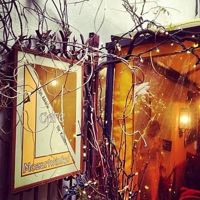 Mozart Photograph - #café #mozartwinkel #salzburg by Prenota Per Due