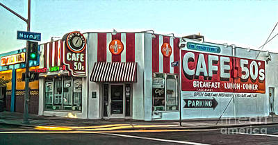 Painting - Cafe 50's by Gregory Dyer