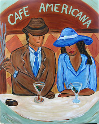Cafe Americana Print by Victoria  Johns