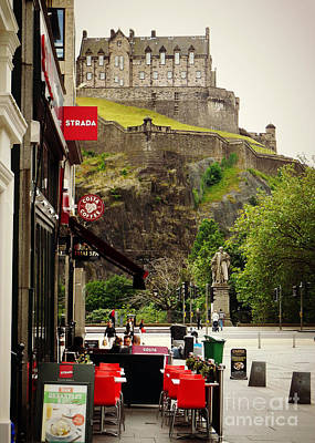 Photograph - Cafe And Castle-- Nice View by Valerie Reeves