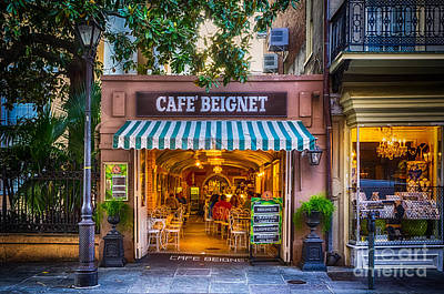 Cafe Beignet Morning Nola Art Print by Kathleen K Parker