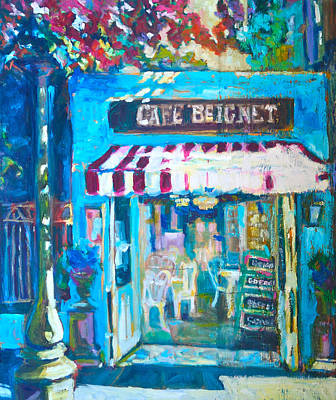 Beignets Painting - Cafe Beignet by Sue Scoggins