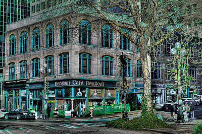 Photograph - Cafe Bengoti In Pioneer Square - Seattle Washington by David Patterson