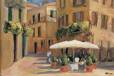 Outdoor Cafe Painting - Cafe Bordeaux by Allayn Stevens