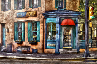 Photograph - Cafe - Cafe America by Mike Savad