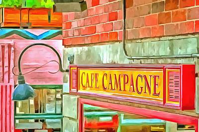 Photograph - Cafe Campagne by CarolLMiller Photography