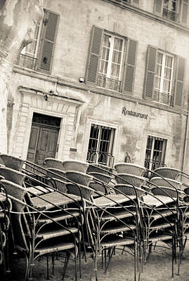 Photograph - Cafe Chairs by Matthew Pace