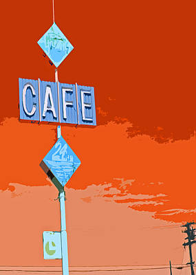 Cafe Art Print by Charlette Miller