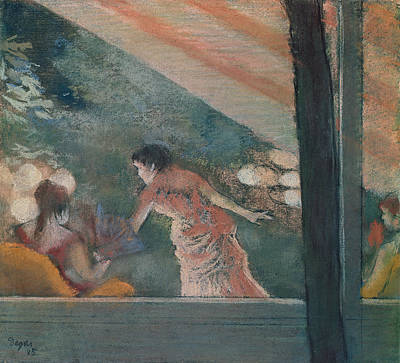 Cafe Concert At The Ambassadeurs Print by Edgar Degas