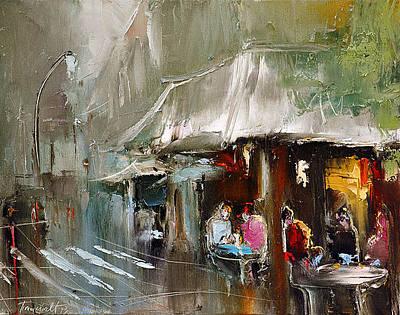 Painting - Cafe De Flore by David Figielek