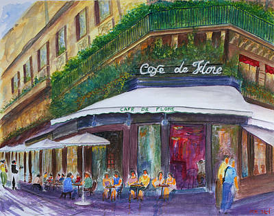 Painting - Cafe De Flore by Lior Ohayon