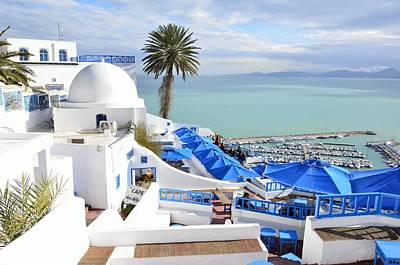 Sidi Bou Said Photograph - Cafe Des Delices In Sidi Bou Said by Yinguo Huang