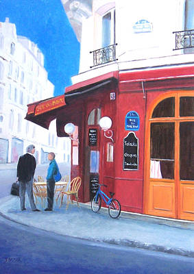 Outdoor Cafe Painting - Cafe Des Musees Paris by Jan Matson