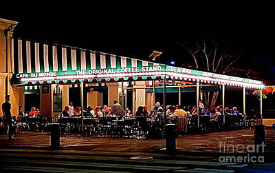 Photograph - Cafe Du Monde At Jackson Square by Michael Hoard