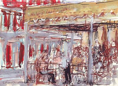 Drawing - Cafe Du Monde  by Edward Ching
