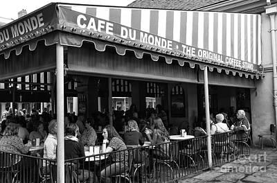 Photograph - Cafe Du Monde Morning Mono by John Rizzuto