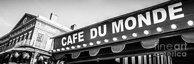 Cafe Du Monde Panoramic Picture Art Print by Paul Velgos