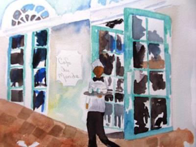 Beignets Painting - Cafe Du Monde by Sandi Stonebraker