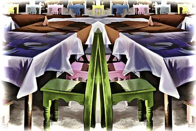 Tableware Digital Art - Cafe En Mejico by Maria Coulson