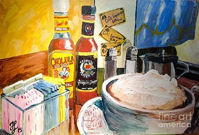Painting - Cafe Espresso Tableart by Francois Lamothe