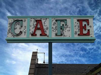 Cafe Art Print by Glenn McCarthy Art and Photography