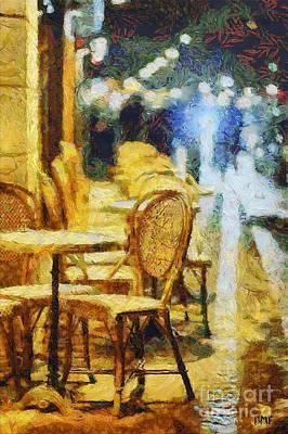 Cafe In Aix Art Print by Dragica  Micki Fortuna