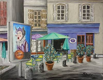 Cafe In South France Original by Irving Starr