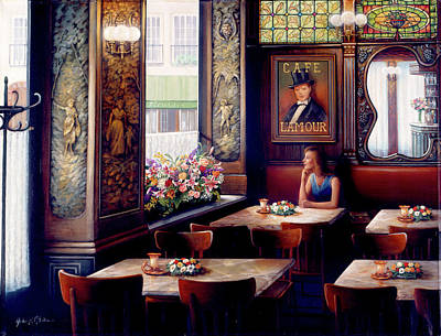 Painting - Cafe L'amor by John P. O'brien