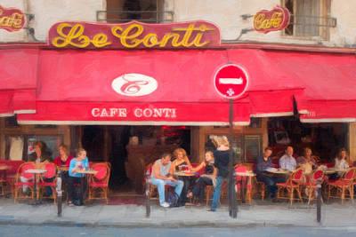 Cafe Le Conti Paris Original by Bruce McFarland