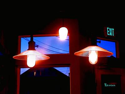 Photograph - Cafe Lights by Sadie Reneau
