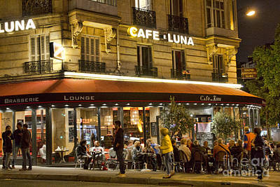 Photograph - Cafe Luna by Crystal Nederman