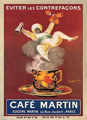 Cafe Martin 1921 Art Print by Leonetto Cappiello