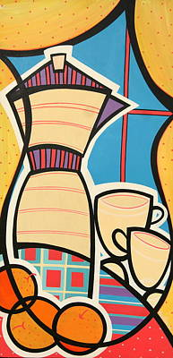 Colorfull Painting - Cafe by Mary Tere Perez