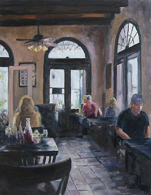 Painting - Cafe Maspero by Connie Schaertl