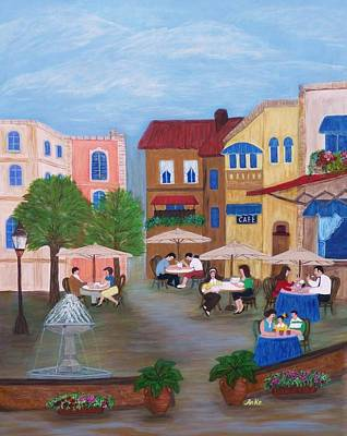 Cafe' Moments Art Print by Anke Wheeler