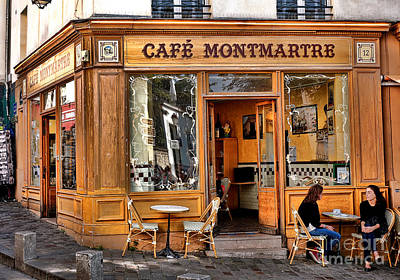 Storefront Photograph - Cafe Montmartre by Olivier Le Queinec
