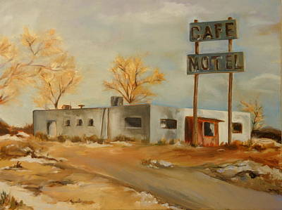 Painting - Cafe Motel by Lindsay Frost